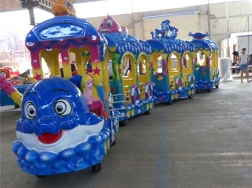 Kiddie trackless train rides